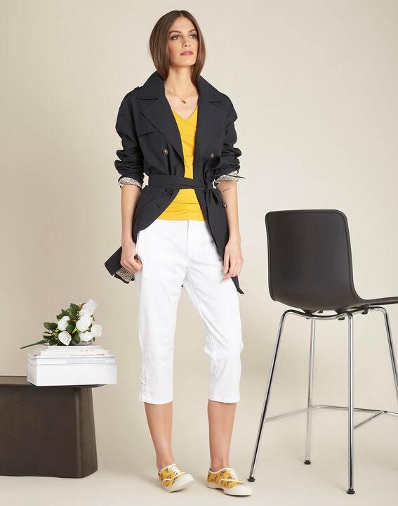 Estelle yellow lace T-shirt (2) - 1-2-3