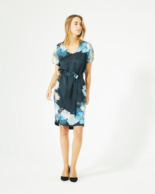 Robe bleu marine imprimée Griotte (2) - 1-2-3