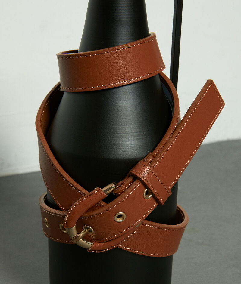 Schmaler Gürtel aus Leder havannabraun Eleonore PhotoZ | 1-2-3