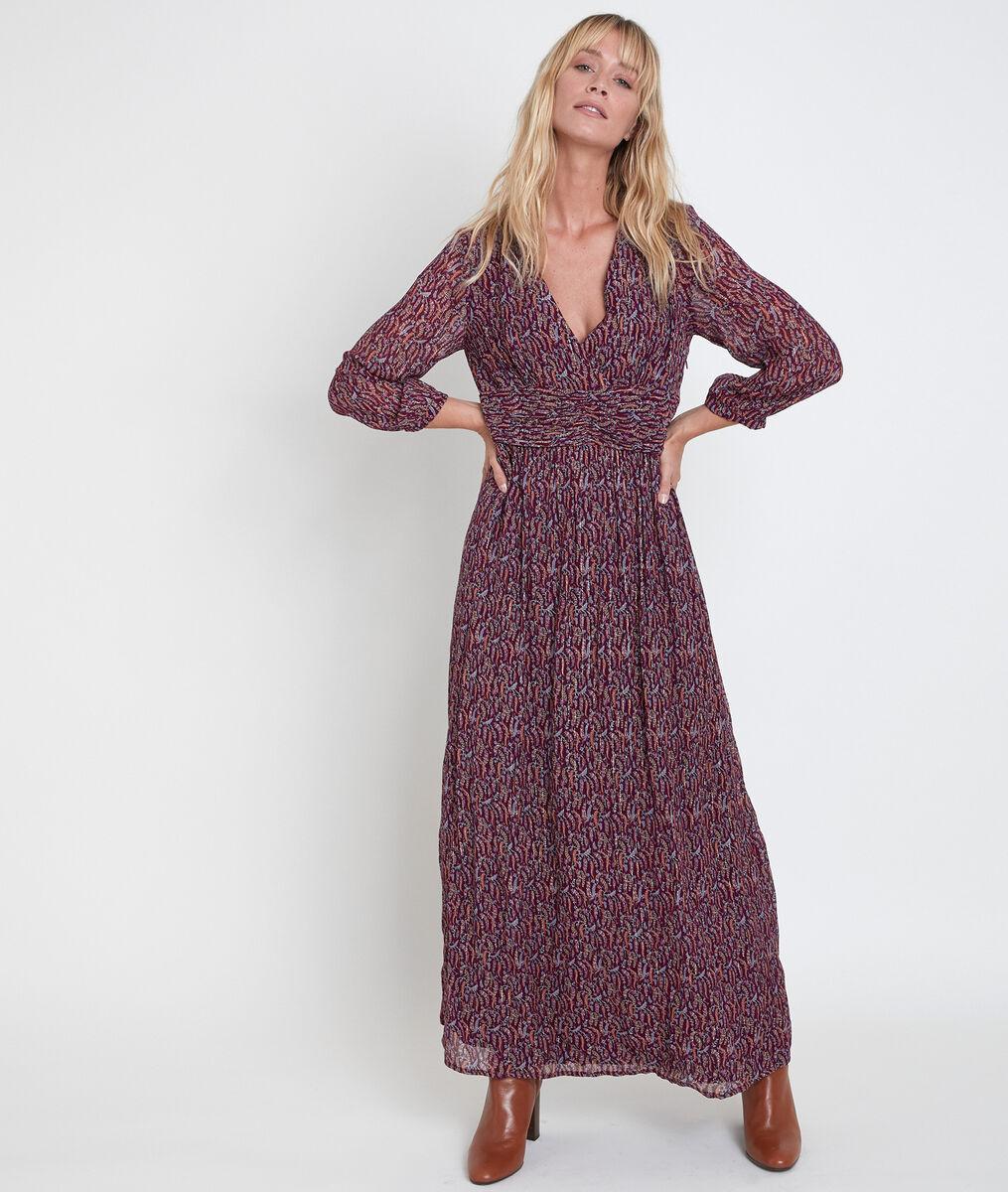 Robe longue imprimée Claudine bis PhotoZ | 1-2-3