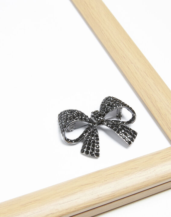 Broche noeud strass noirs Ximena PhotoZ | 1-2-3