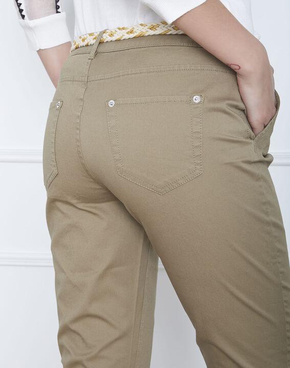 Pantalon kaki chino ceinture fantaisie Francis (4) - Maison 123
