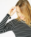 Parure black and white striped sweater in a stylish knit PhotoZ | 1-2-3