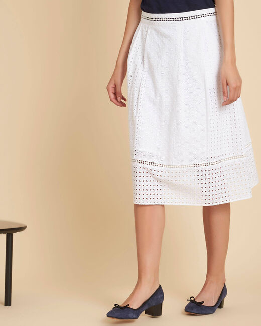 Lumiere embroidered white cotton skirt (2) - 1-2-3