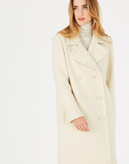 Joshua boiled wool ecru coat (3) - 1-2-3
