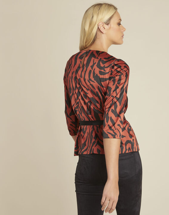Camomille red zebra print blouse (4) - Maison 123
