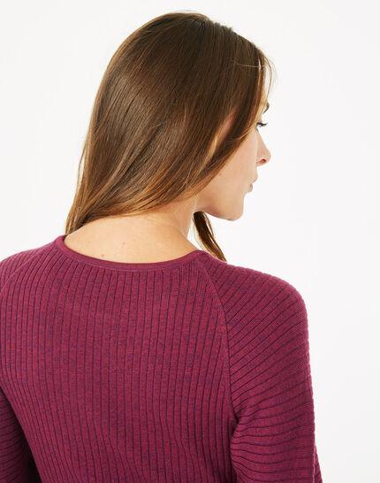 Robe cassis en laine mélangée Altesse (3) - 1-2-3