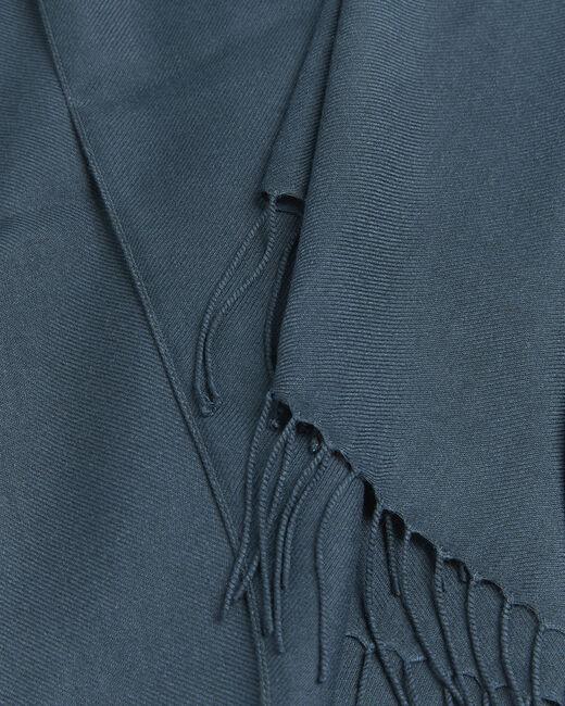 Dunkelgrüner Schal mit Fransen Fossette (1) - 1-2-3