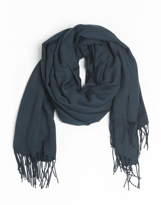 Donkeregroene sjaal met franjes Fossette PhotoZ | 1-2-3