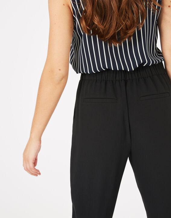 Pantalon noir en crêpe Daria (3) - 1-2-3