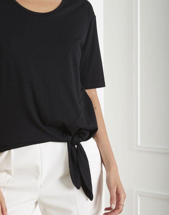 Tee-shirt noir à nœud Philippine (4) - Maison 123