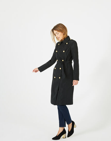 Jessy mid-length black trench coat (6) - 1-2-3