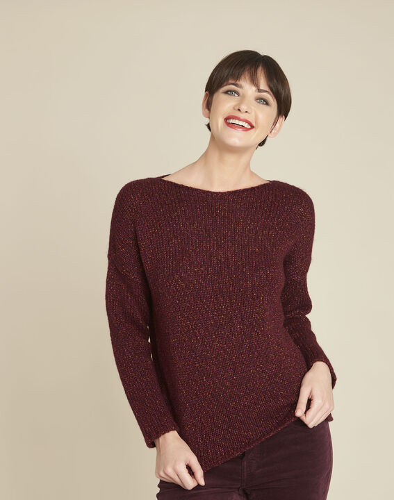 Bagno iridescent Bordeaux wool pullover PhotoZ | 1-2-3