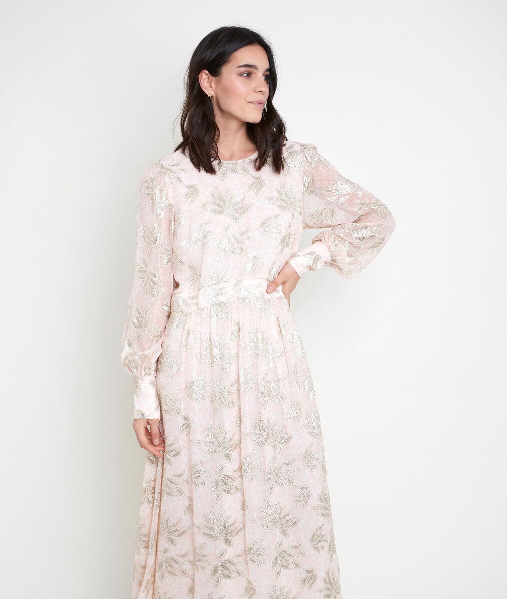 Robe longue poudre jacquard Maria PhotoZ | 1-2-3