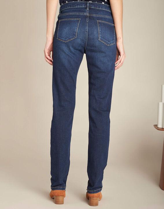 Dunkelblaue gerade Jeans normale Leibhöhe Vivienne (4) - 1-2-3