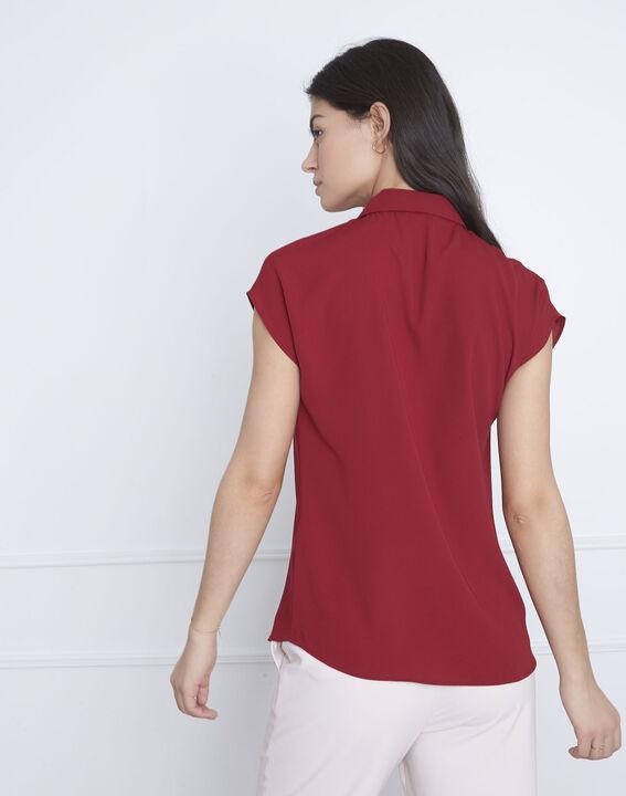Rotes gerade geschnittenes Top Valerie (4) - Maison 123