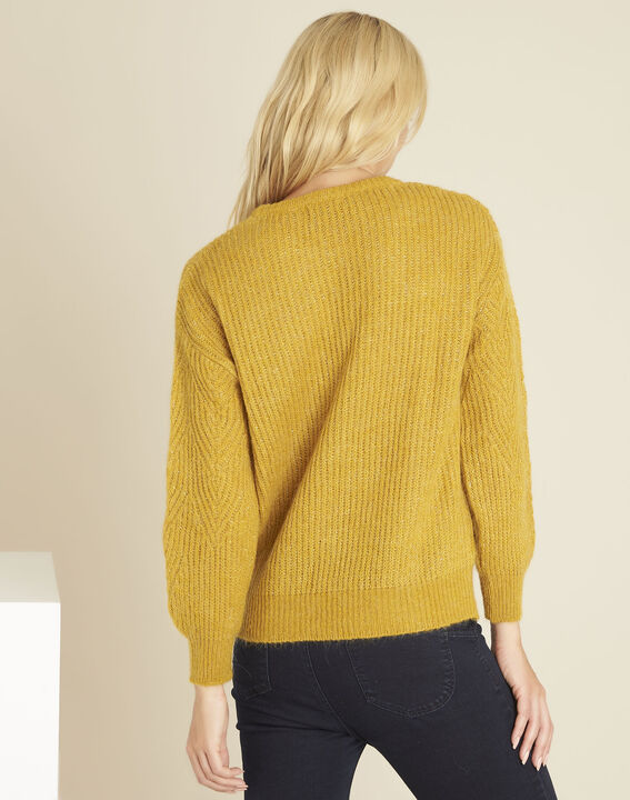 Bardot yellow sweater with decorative polka dots (4) - 1-2-3