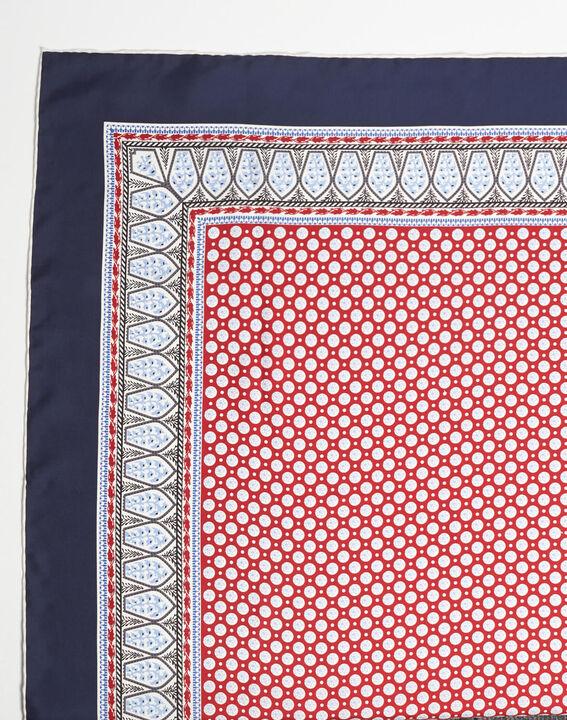 Ashton graphic printed square scarf in silk PhotoZ | 1-2-3