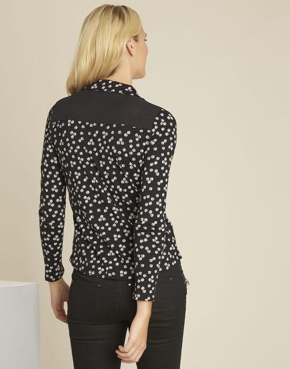Garose black printed blouse (4) - Maison 123