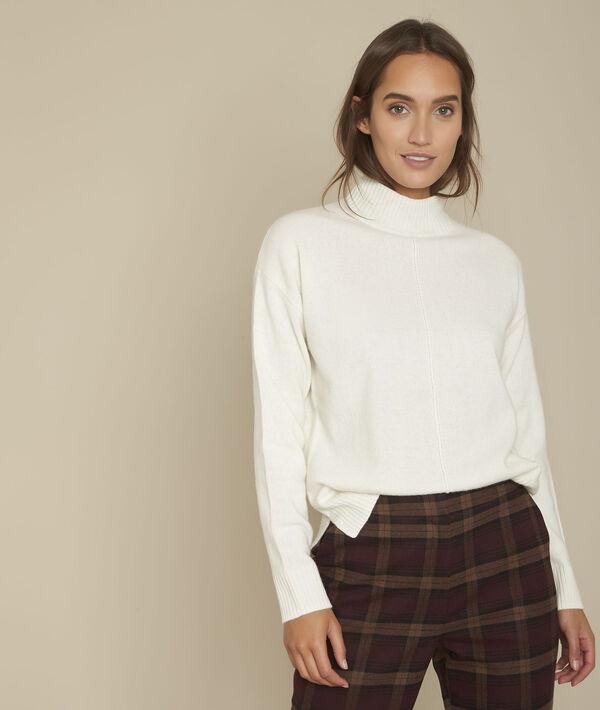 Pullover mit Stehkragen weiß Fabago PhotoZ | 1-2-3