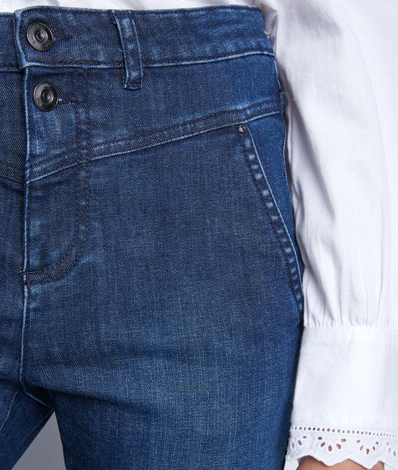 Jean droit à la taille haute structurée en denim brut Naeva PhotoZ | 1-2-3