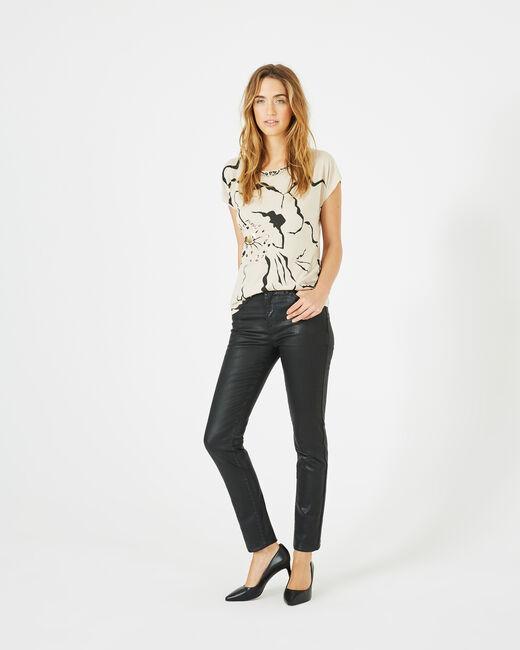 William black slim-cut coated trousers (2) - 1-2-3