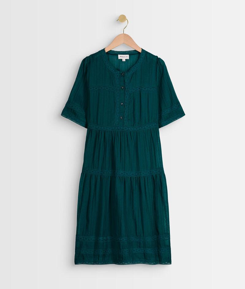 Robe verte à dentelle Corelia PhotoZ | 1-2-3