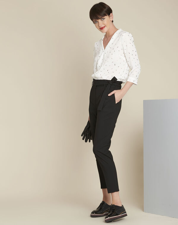 Ecru blouse met print Elea (1) - 37653