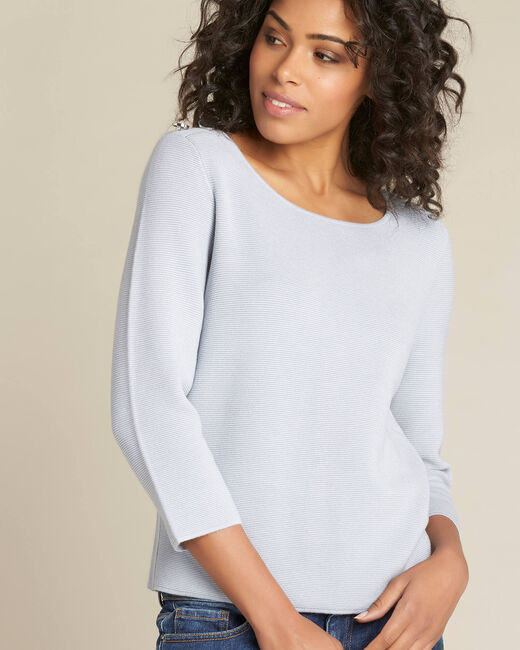Neroli ice blue sweater with 3/4 length sleeves (2) - 1-2-3