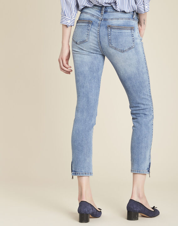 Opéra bleached-look jeans with zipped detailing (4) - 1-2-3