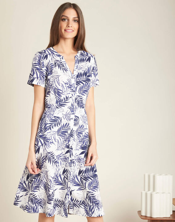 Palmire blue printed linen dress (3) - 1-2-3