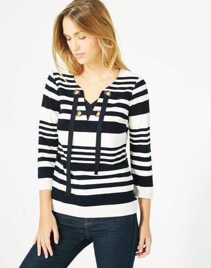 Tee-shirt manches 3/4 rayé Boréal (1) - 1-2-3