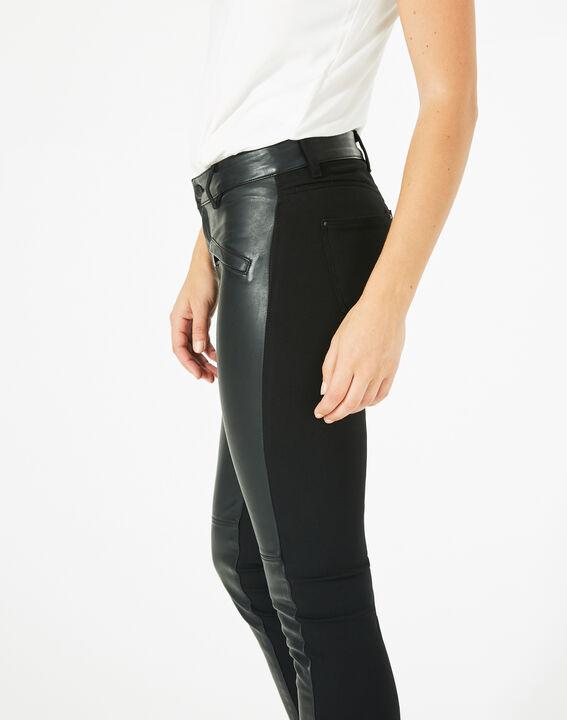 Pantalon noir slim milano faux cuir Kassy (4) - 1-2-3