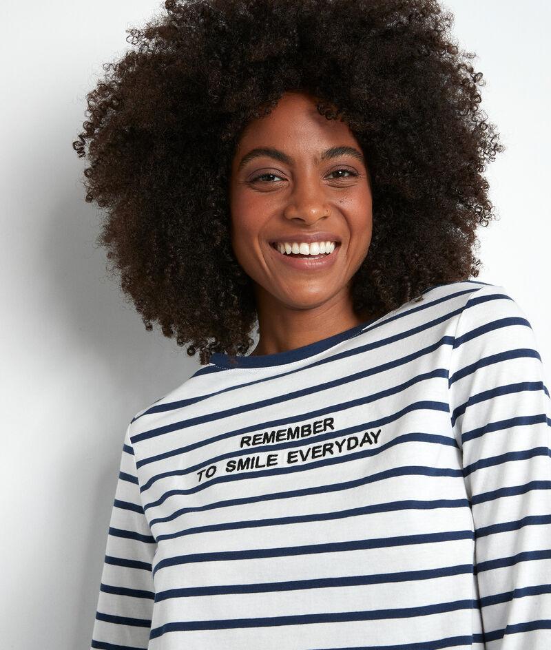 Tee-shirt marinière brodé Espoir PhotoZ | 1-2-3