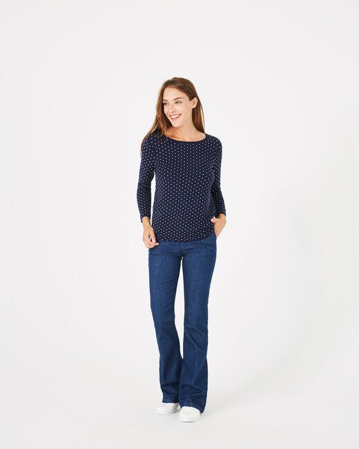 Pull bleu à pois Pastille (1) - 1-2-3