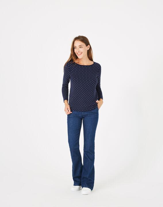 Blauer Pullover mit Tupfen Pastille PhotoZ | 1-2-3