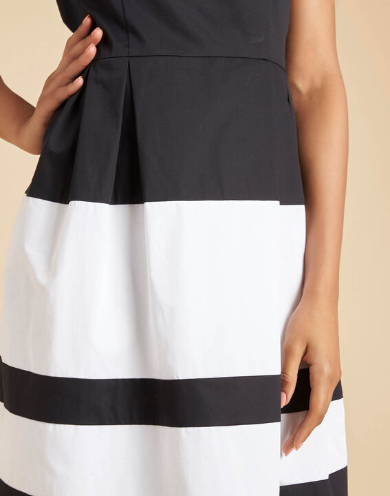 Isla black and white striped dress with original back PhotoZ | 1-2-3
