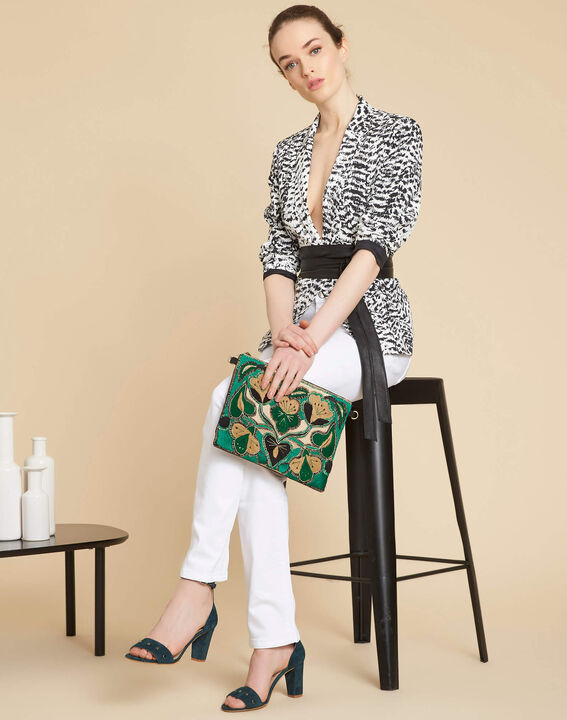 Demoiselle black and white printed jacket (2) - 1-2-3
