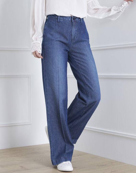 Jeans in hellem Indigo-Blau in Schlaghosen-Optik Cody PhotoZ   1-2-3
