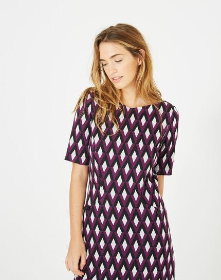 Anémone blackcurrant jacquard dress (1) - 1-2-3