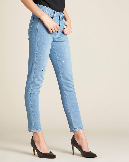 Slim-Fit-Jeans mit silbernen Ösen Vendome (2) - 1-2-3