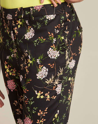 Rubis black floral print trousers black.
