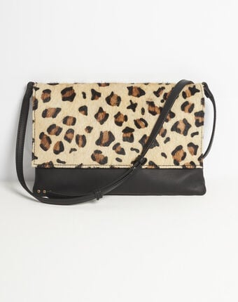 Djenna leopard print shoulder bag camel.