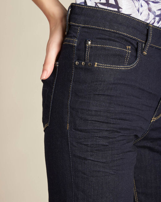 Vivienne navy blue straight-cut jeans (2) - 1-2-3