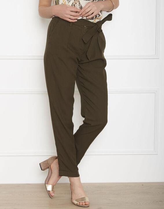 Pantalon kaki fluide ceinture Geode (1) - Maison 123