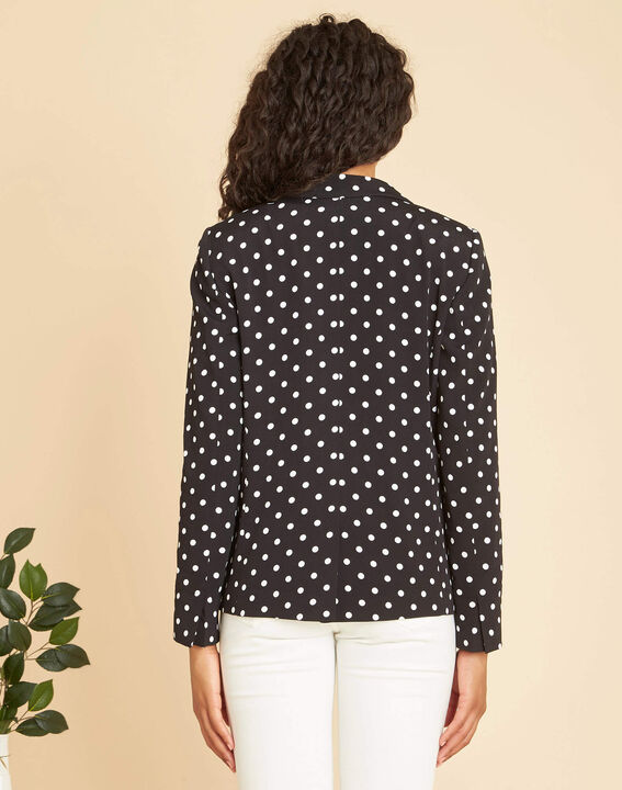 Demoiselle tailored jacket with black polka-dot print  (3) - 1-2-3