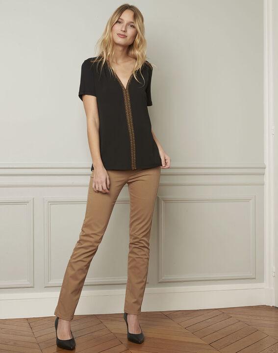 Valentine embroidered black blouse (1) - Maison 123