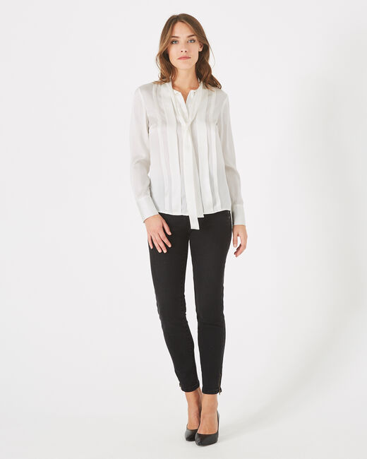 Diva off-white silk blouse with pussy bow (2) - 1-2-3