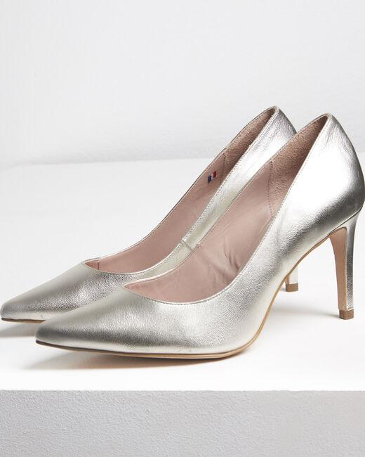 Kelly gold leather high heels (2) - 1-2-3