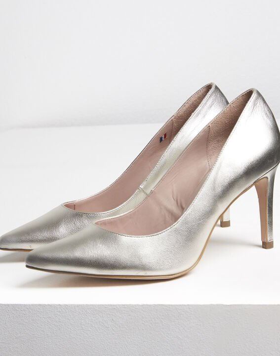 Kelly gold leather high heels (3) - 1-2-3
